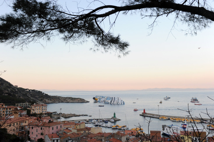 Jan. 14, 2012. The Italian cruise ship 'Costa Concordia' ran aground and keeled over off the Italian coast near the island of Giglio in Tuscany, Italy.