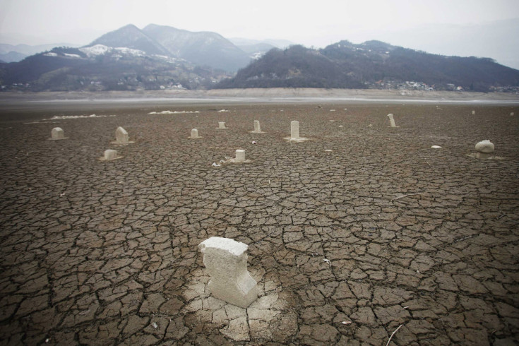 Feb. 1, 2012. The 70-year-old Sunken cemetery is seen after Lake Jablanicko dried up near Jablanica, Bosnia and Herzegovina